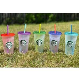 Starbucks Summer 2021 Set of 5 Color Changing Cups
